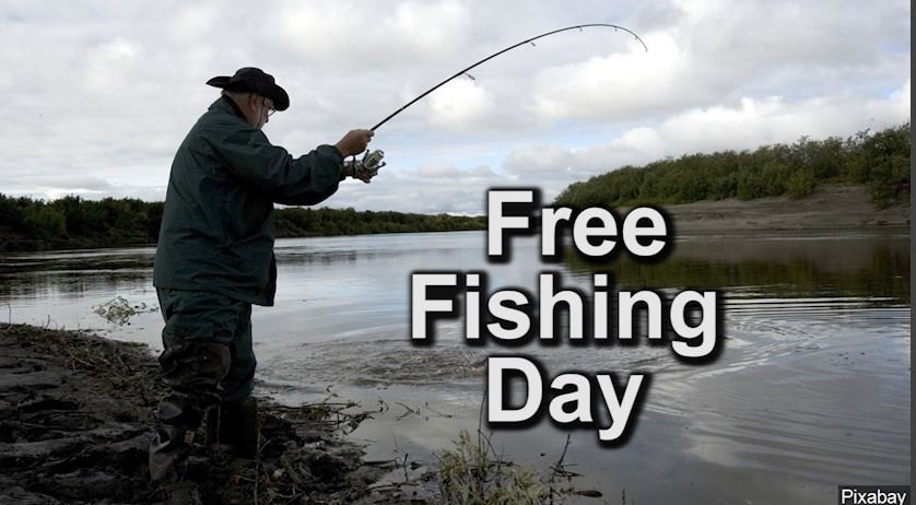 Free fishing day on june 3rd crossroads today for Is today a good day to fish